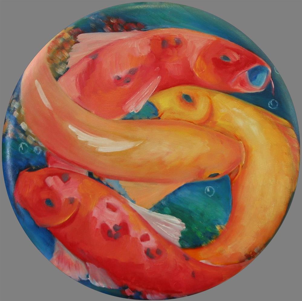 """Feeding Frenzy"" original fine art by Patricia Murray"