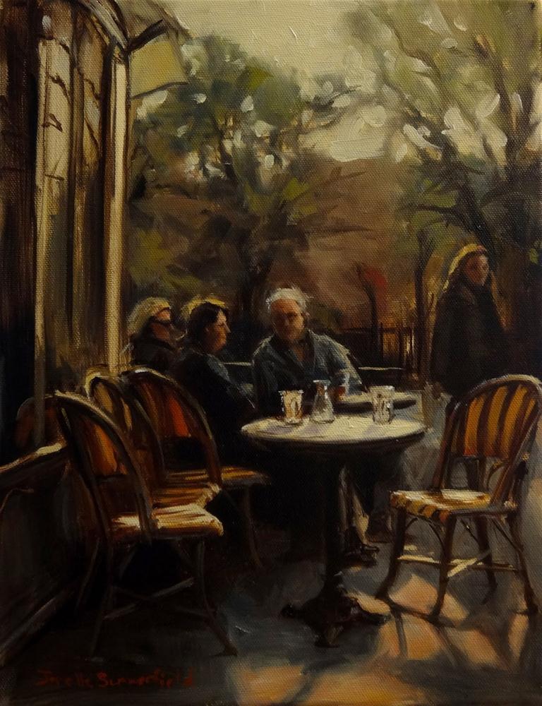 """""""Sidewalk Cafe"""" original fine art by Jonelle Summerfield"""