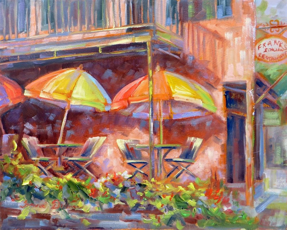 """Streetside Umbrellas"" original fine art by Tammie Dickerson"