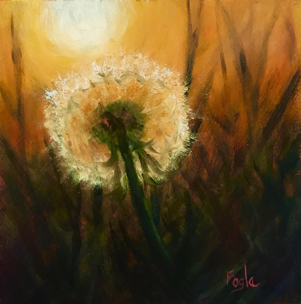 """15-15 Just Dandy"" original fine art by Rachel Fogle"