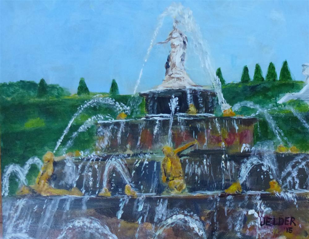 """The Latona Fountain"" original fine art by Judith Elder"