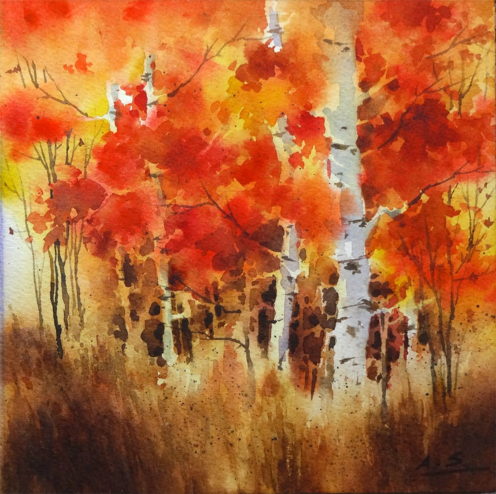 """Bon Fire II"" original fine art by Arena Shawn"