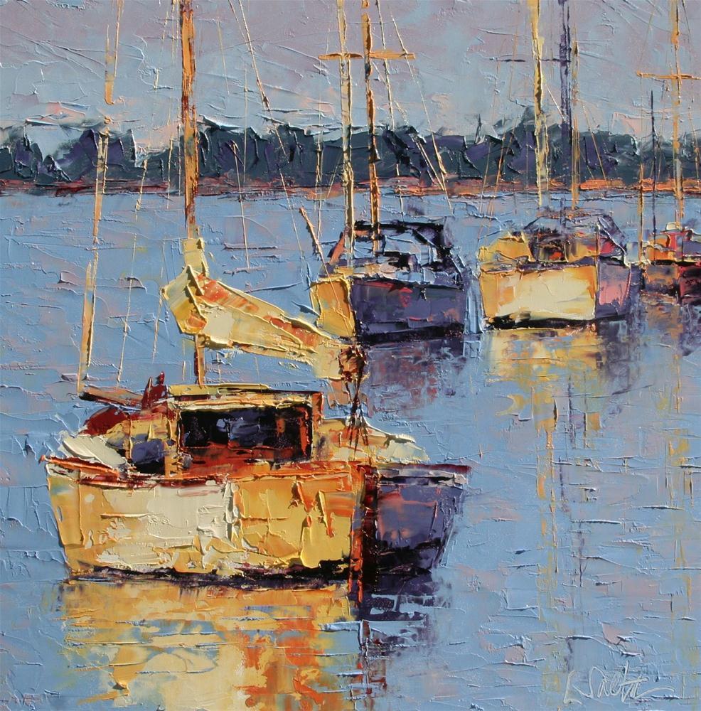 """""""April Afternoon"""" original fine art by Leslie Saeta"""