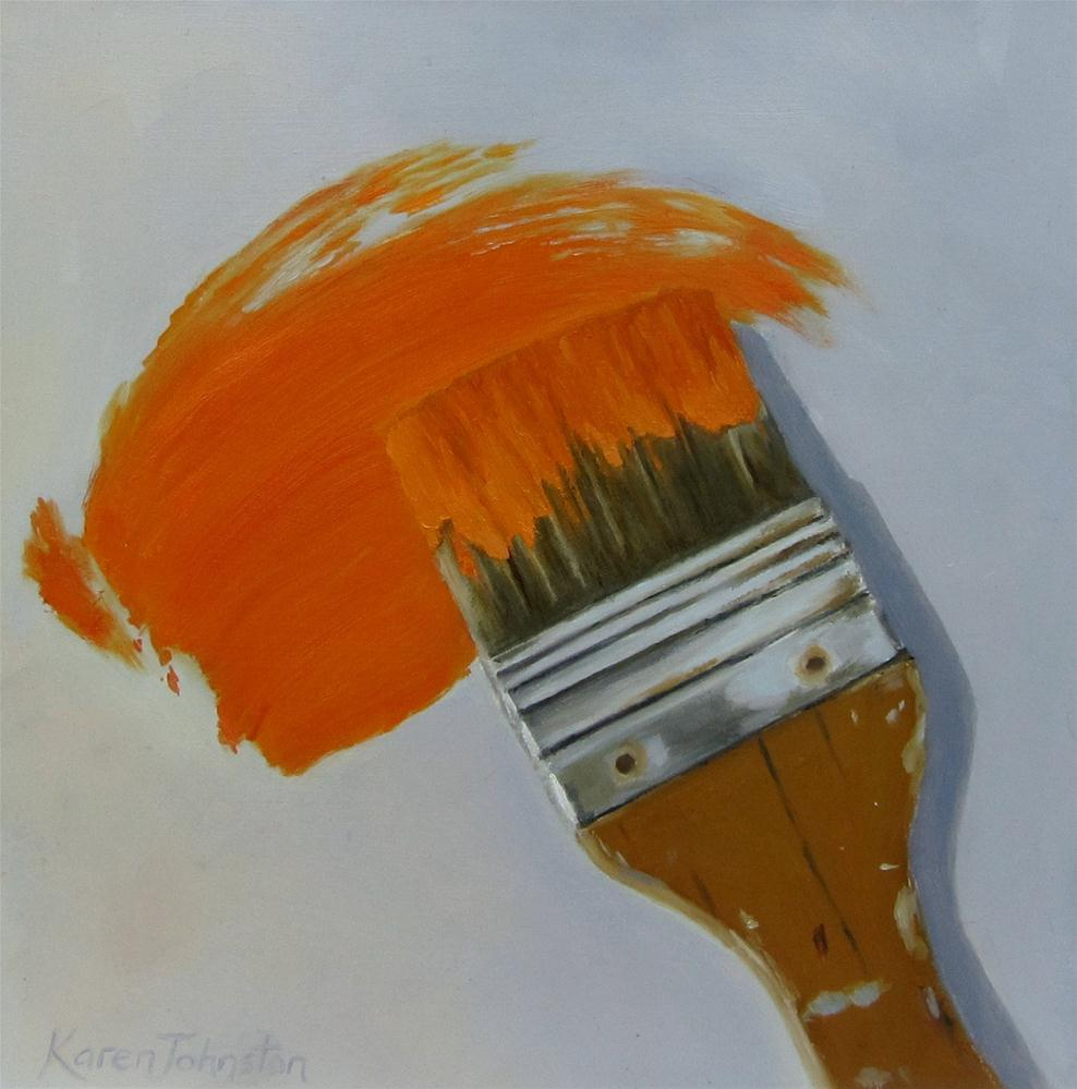 """Loaded Brush"" original fine art by Karen Johnston"