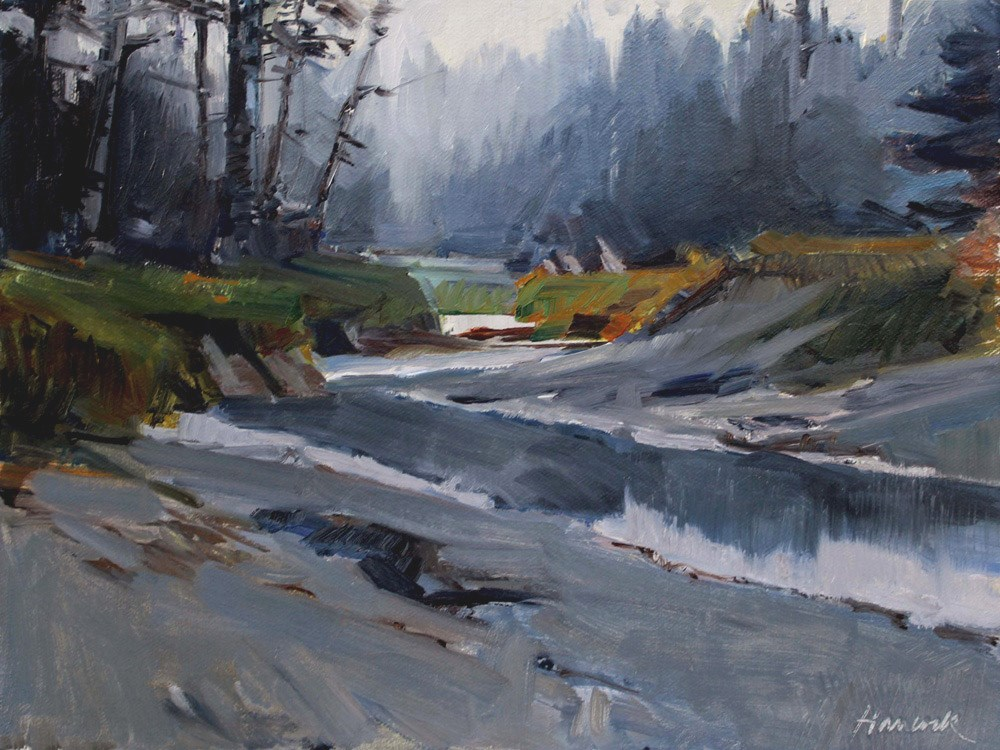 """Kodiak Tidal Creek"" original fine art by Gretchen Hancock"