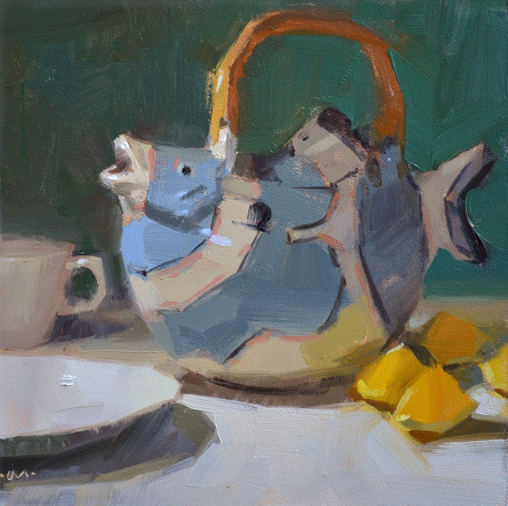"""Fish Tea"" original fine art by Carol Marine"