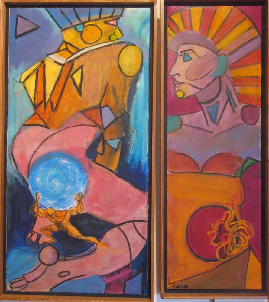 """""""Zeus and Athena"""" original fine art by Carol Wiley"""