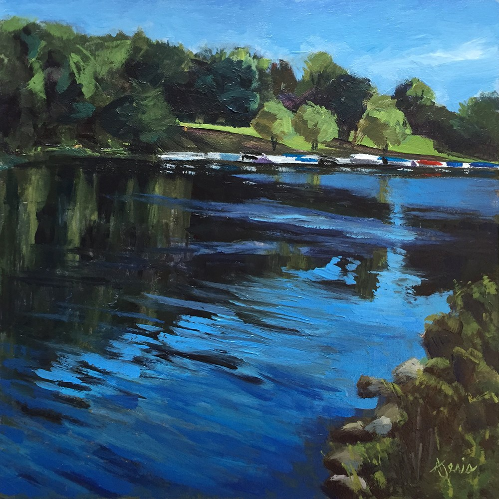 """Dock of the River"" original fine art by Andrea Jeris"