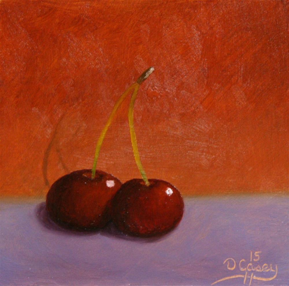 """""""Cherries 006"""" original fine art by Dave Casey"""