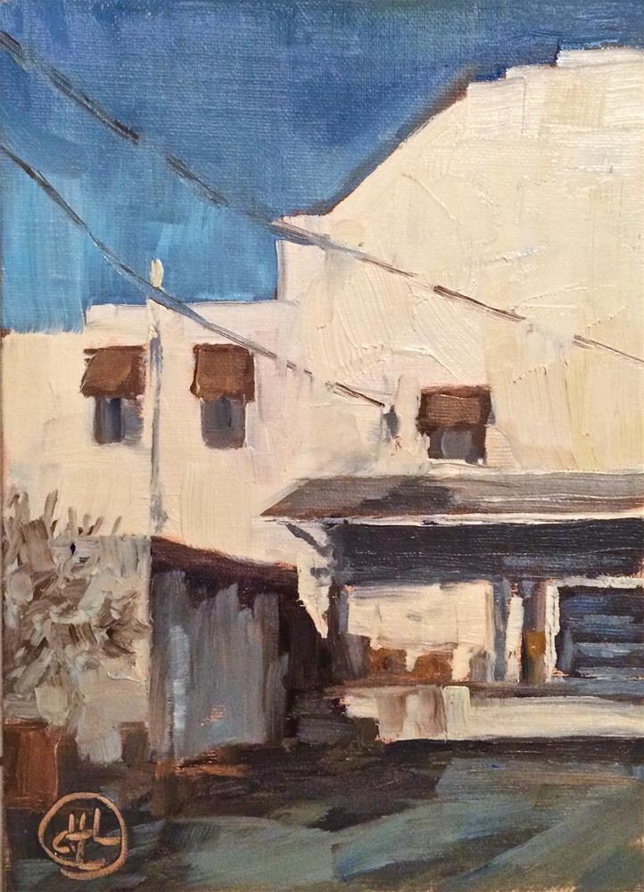 """warehouse on a Monday"" original fine art by Dottie  T  Leatherwood"