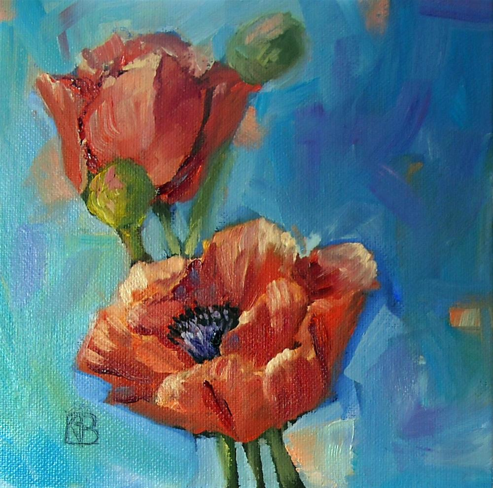 """Poppy Love"" original fine art by Kathleen Barnes"