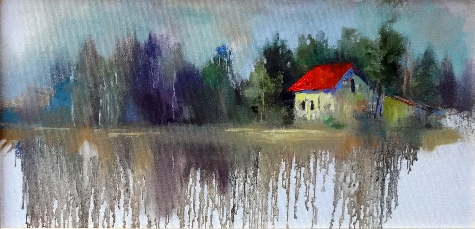 """A Place I Remember, 16x8"" original fine art by Ann Feldman"