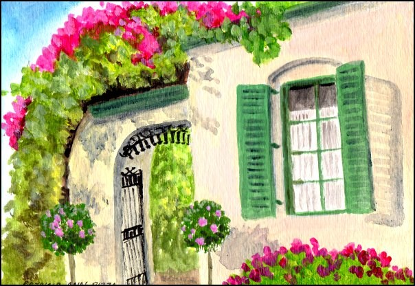 """Very French"" original fine art by Patricia Ann Rizzo"