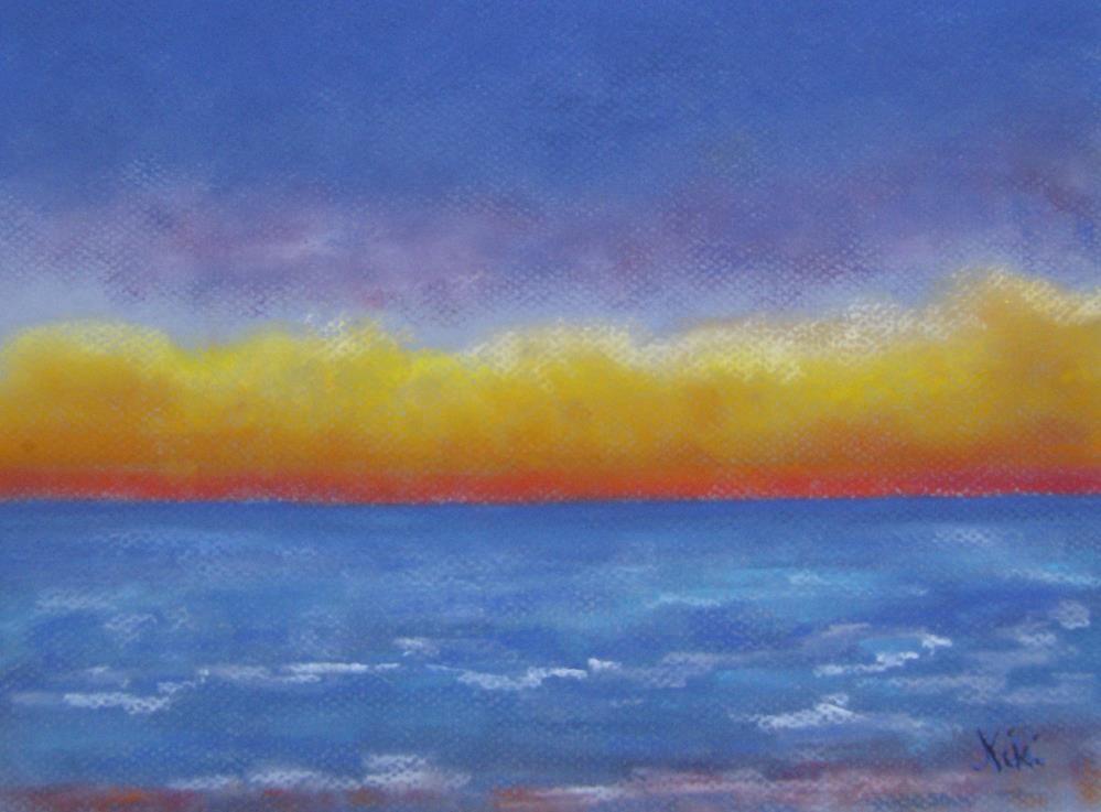 """""""Horizon"""" original fine art by Niki Hilsabeck"""