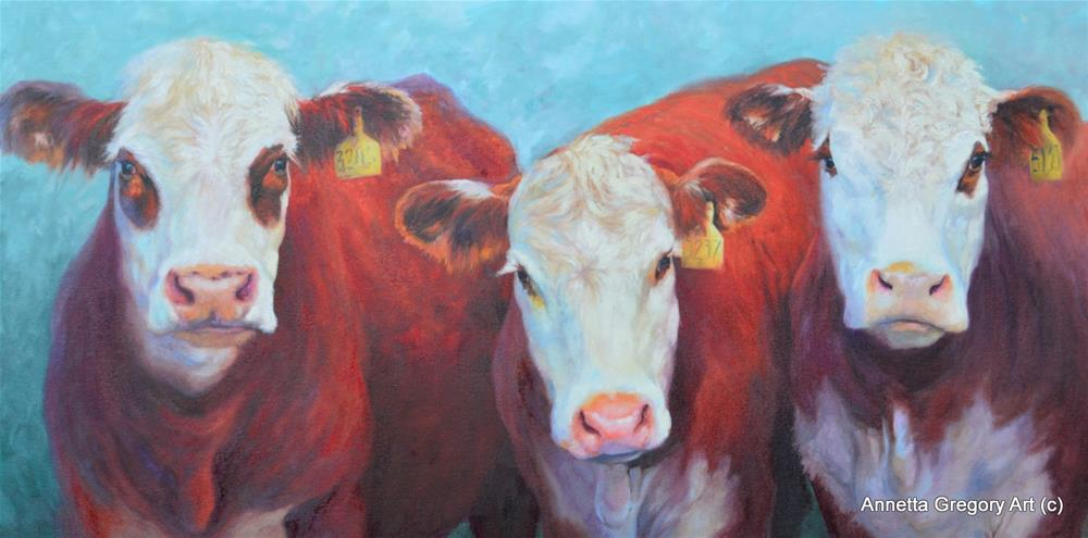 """""""The Welcoming Committee"""" original fine art by Annetta Gregory"""