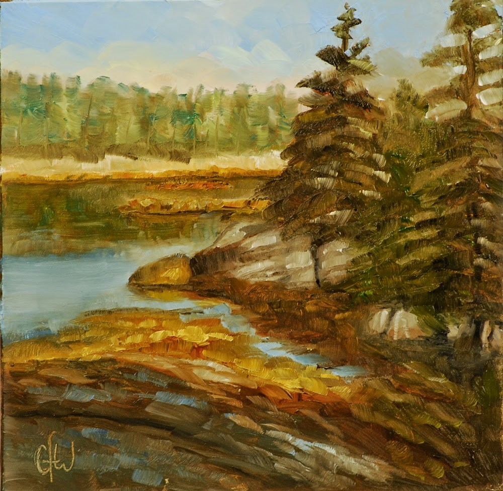 """Forest On The Coast"" original fine art by Gary Westlake"