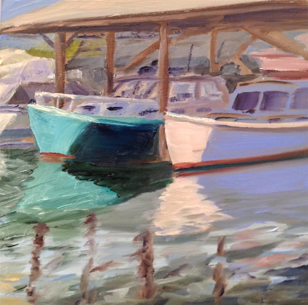 """St. Michael's Boats #2"" original fine art by Debra Kennedy"