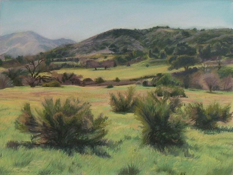 """""""Along Las Virgenes Road"""" original fine art by Susan Z. Forbush"""