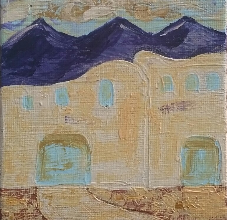 """Southwest 2 House 30"" original fine art by Christy Tremblay"