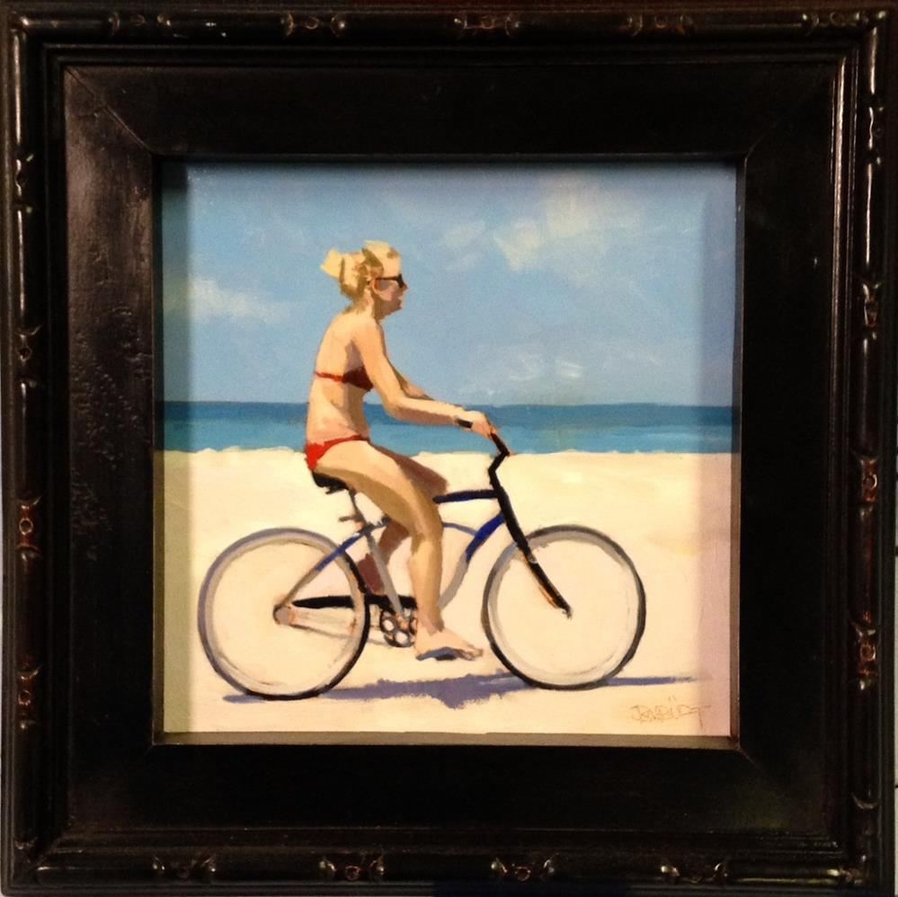 """#331 Bike Beach Study"" original fine art by Brian Burt"