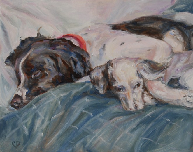 """The Boys"" original fine art by Carol DeMumbrum"