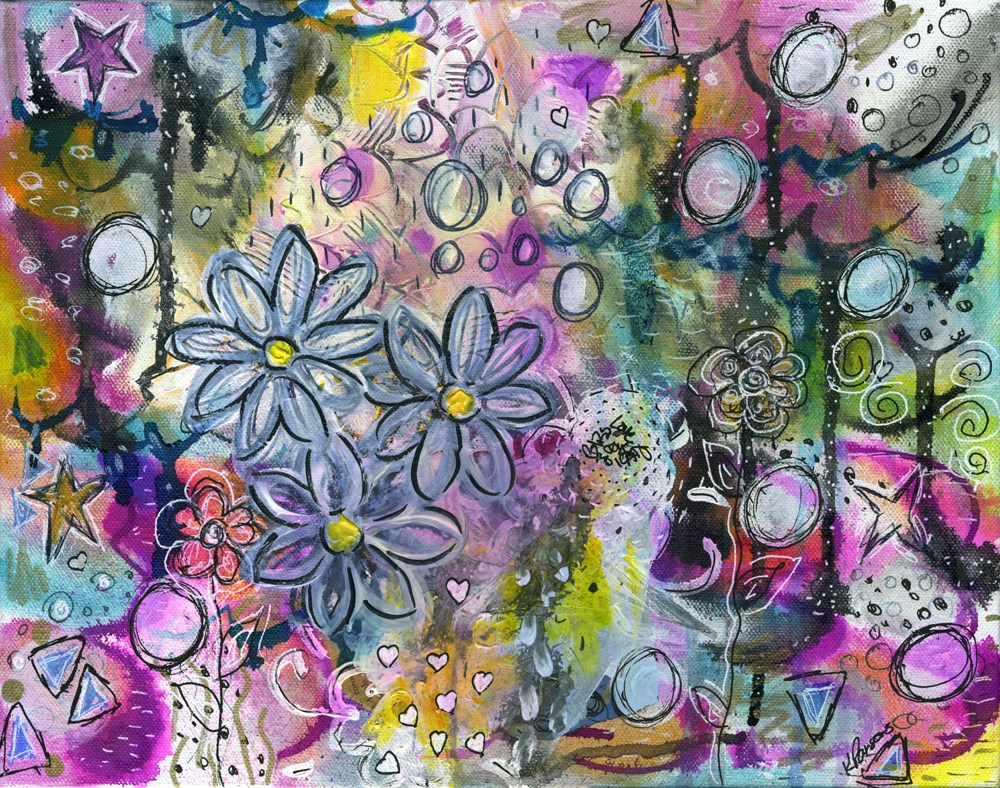 """Joyful"" original fine art by Kali Parsons"