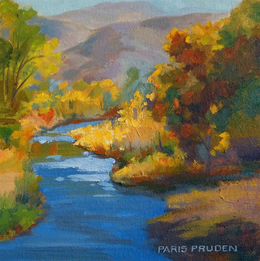 """A River Runs Through It"" original fine art by Nancy Paris Pruden"