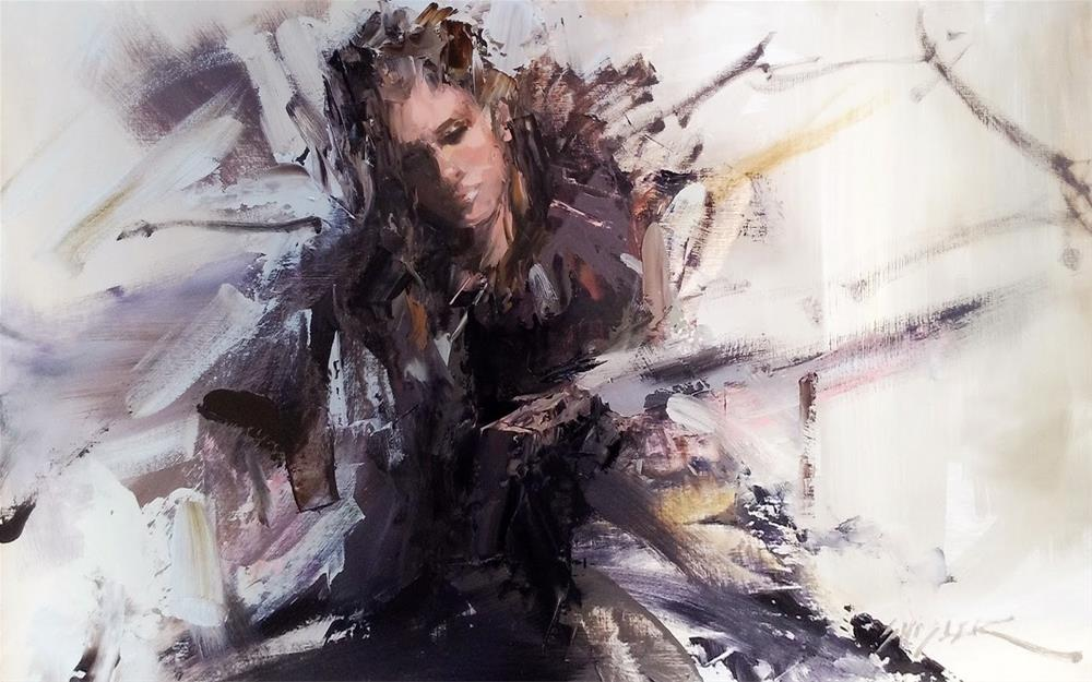 """Widow's Peak by Sally Shisler"" original fine art by Sally Shisler"