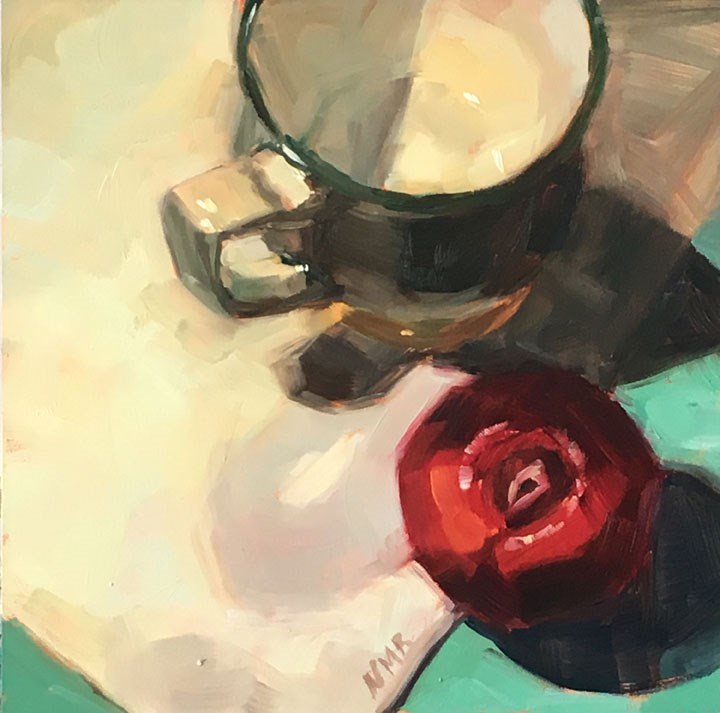 """Cup and Plum"" original fine art by Nealy May Riley"