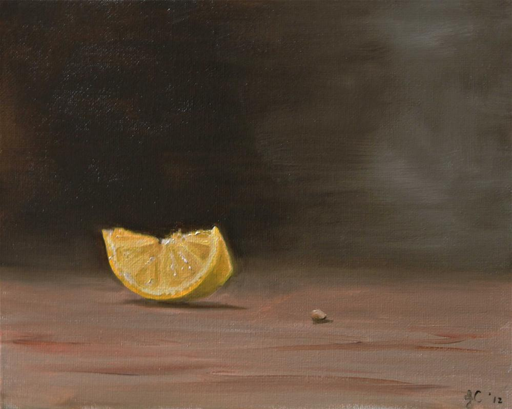 """Lemon Slice"" original fine art by James Coates"