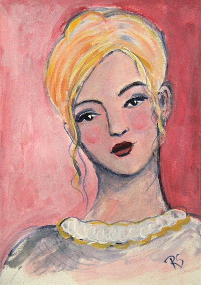 """Study in Pink - Carissa"" original fine art by Roberta Schmidt"