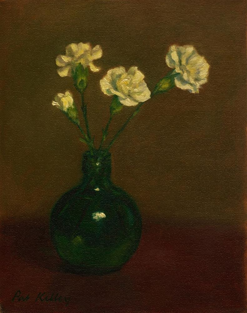 """Carnations in a Bottle"" original fine art by Pat Kelley"