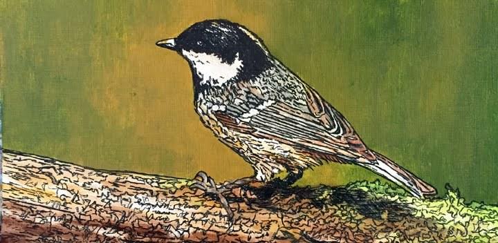 """My Lil Chickadee"" original fine art by Nan Johnson"