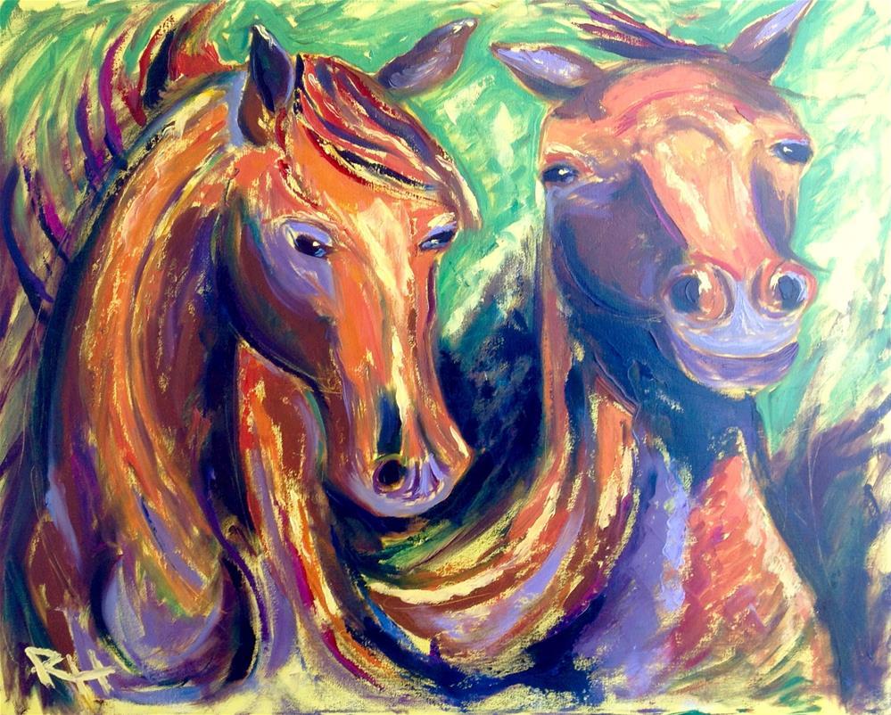 """Equine Salsa"" original fine art by Rachel  Holland"
