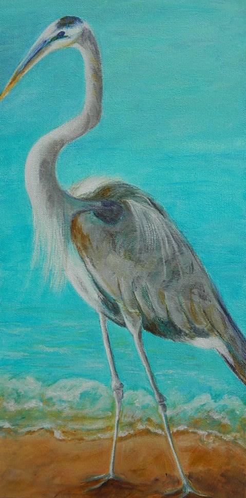 """Great Blue Heron"" original fine art by Gloria Urban"