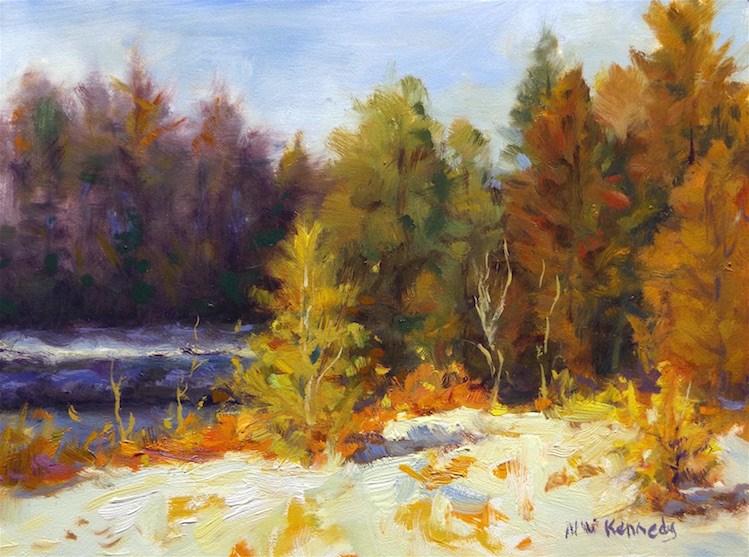 """Winter Light"" original fine art by Michael Kennedy"