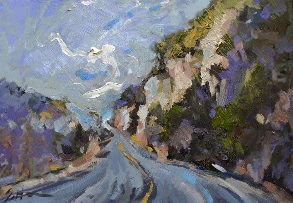 """Mountain Highway"" original fine art by Susan Hughes"