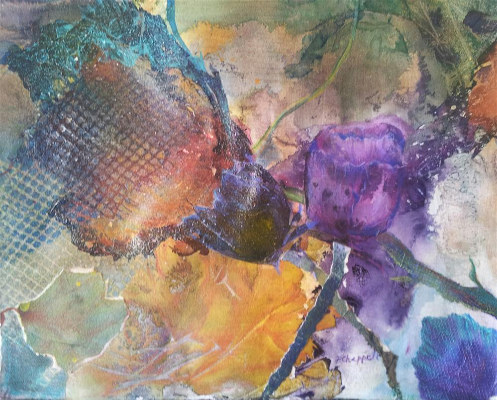 """""""Discarded Petals"""" original fine art by Becky Chappell"""