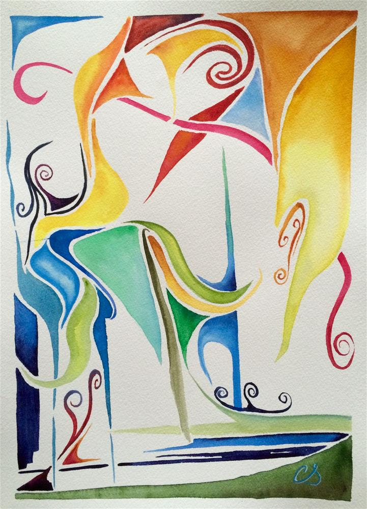 """Just for Fun"" original fine art by Claudia Selene"