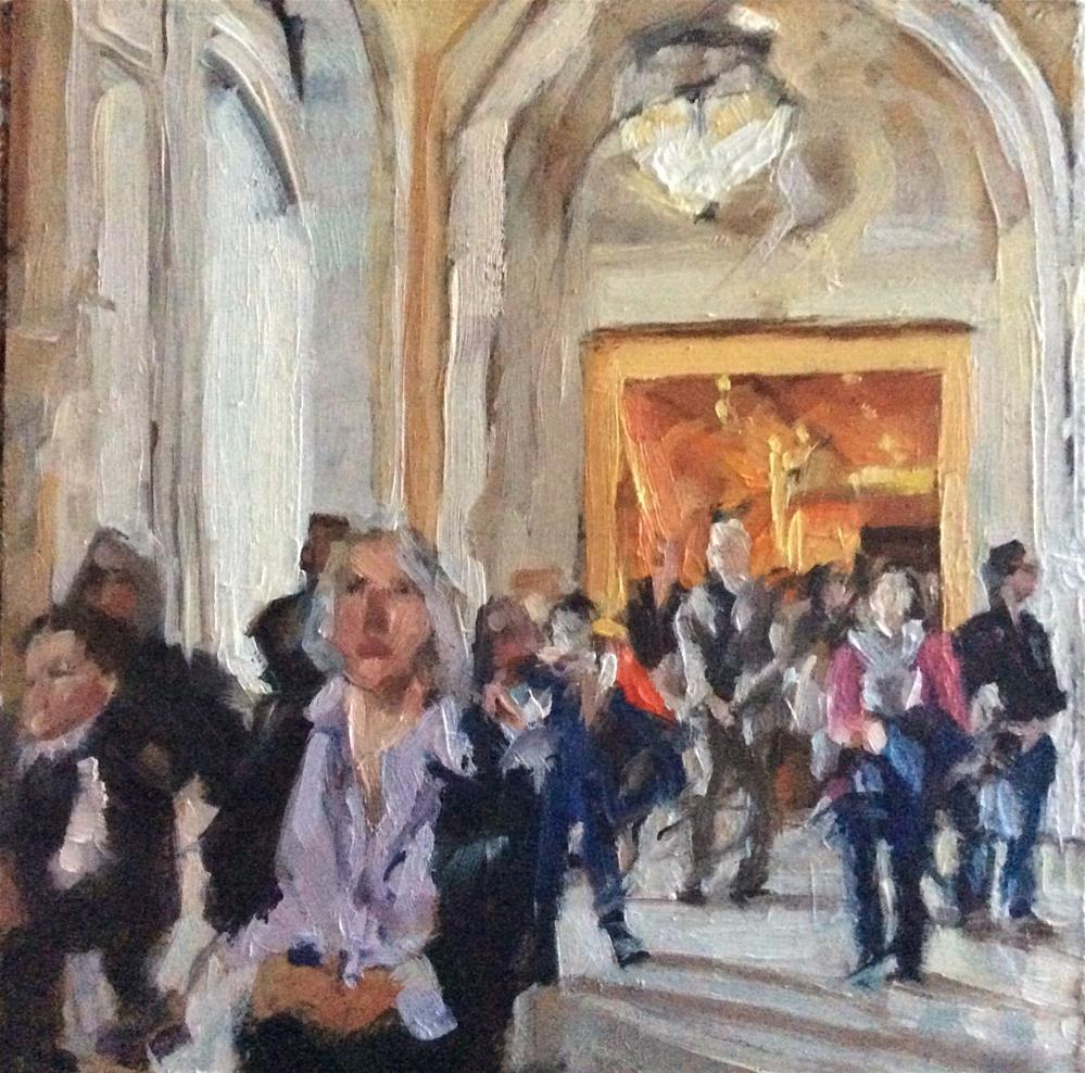 """People and Places - NYC Public Library"" original fine art by Paula Howson-Green"