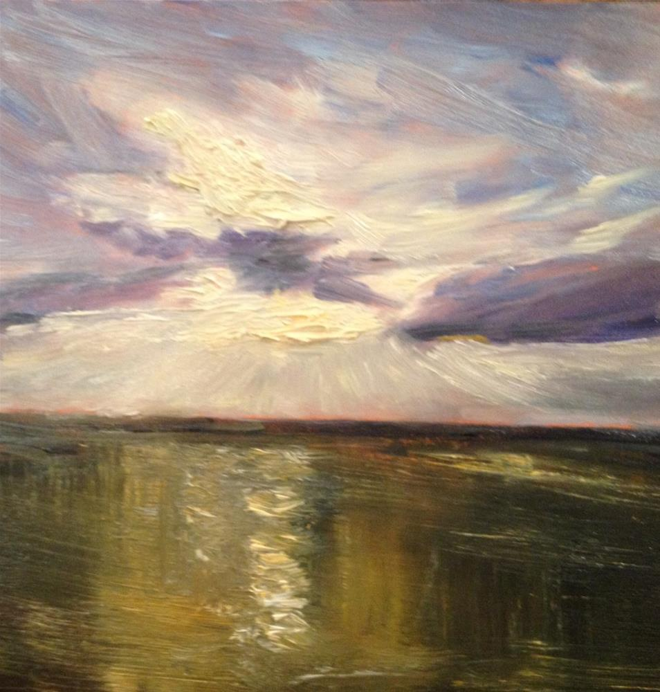 """Light Over the Water"" original fine art by Claudia L Brookes"