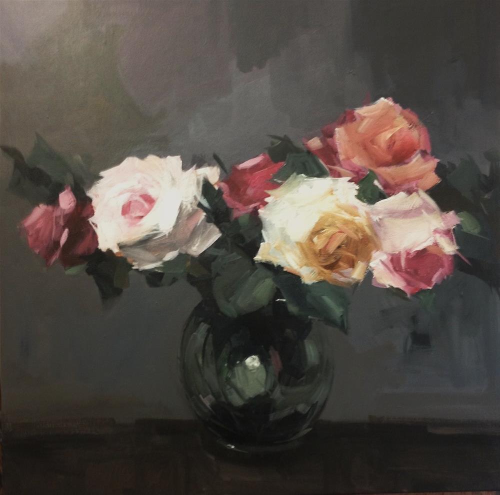 """October roses"" original fine art by Parastoo Ganjei"