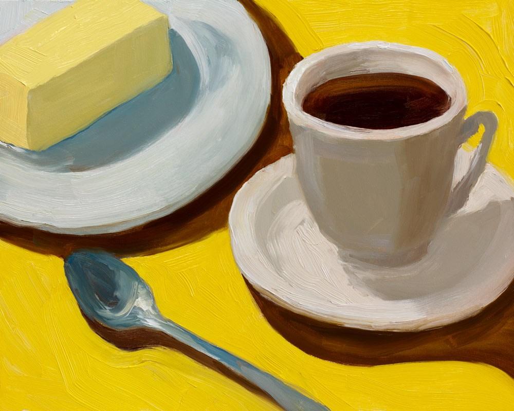 """""""Butter & Tea"""" original fine art by Jana Bouc"""