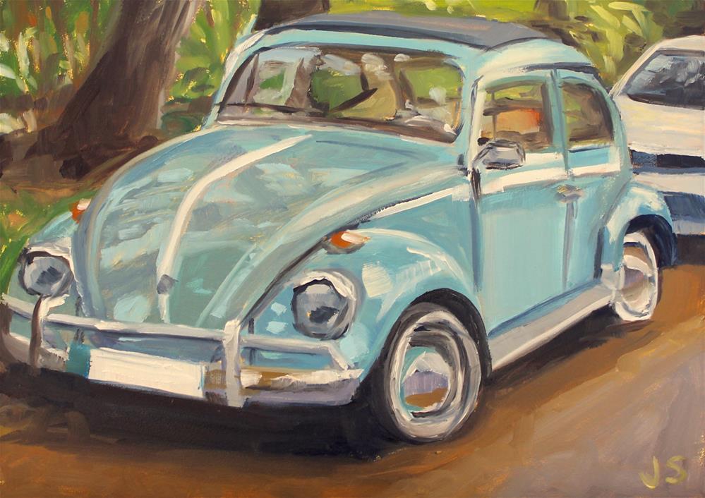 """Blue Bug"" original fine art by Jamie Stevens"