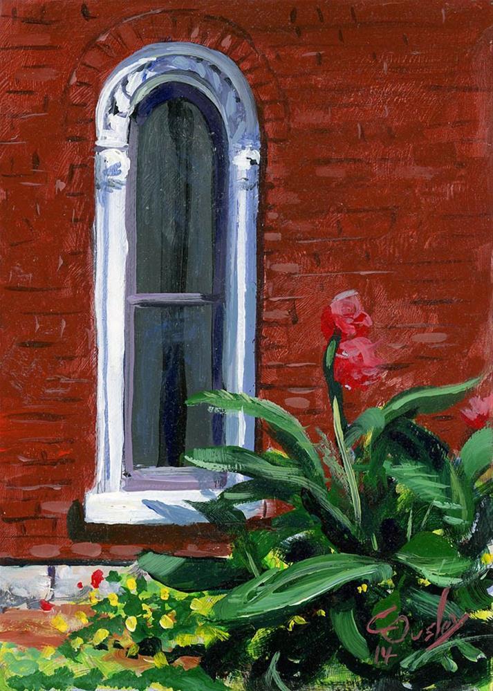 """Germantown Window"" original fine art by Chris Ousley"