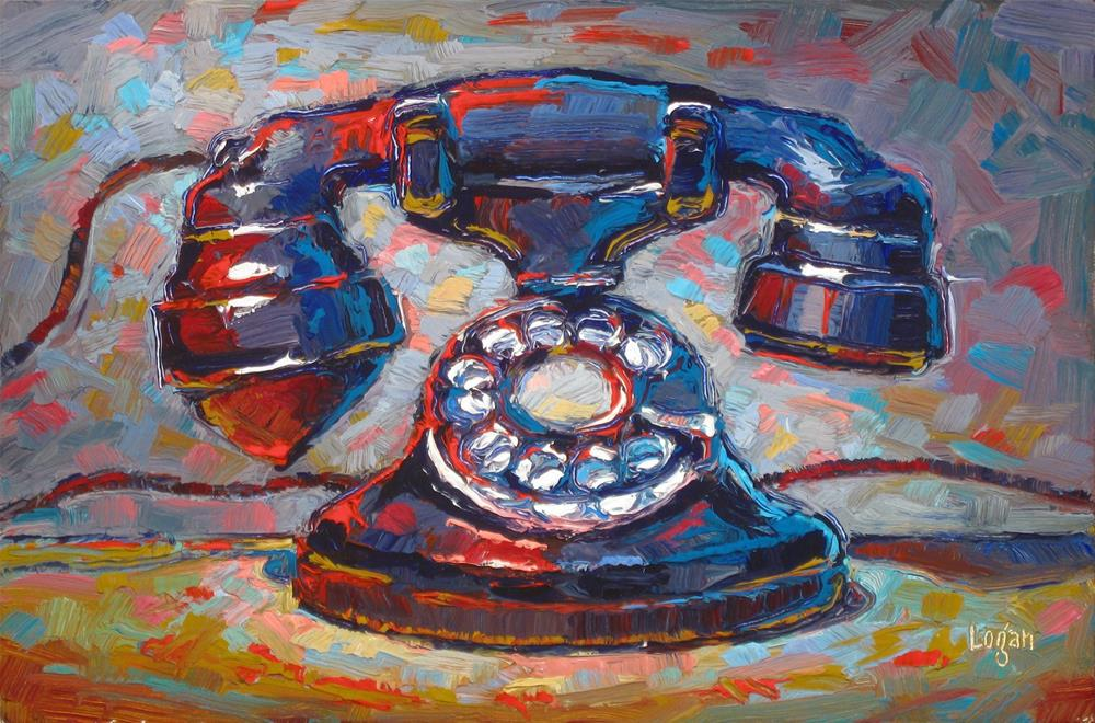 """Western Electric Telephone"" original fine art by Raymond Logan"