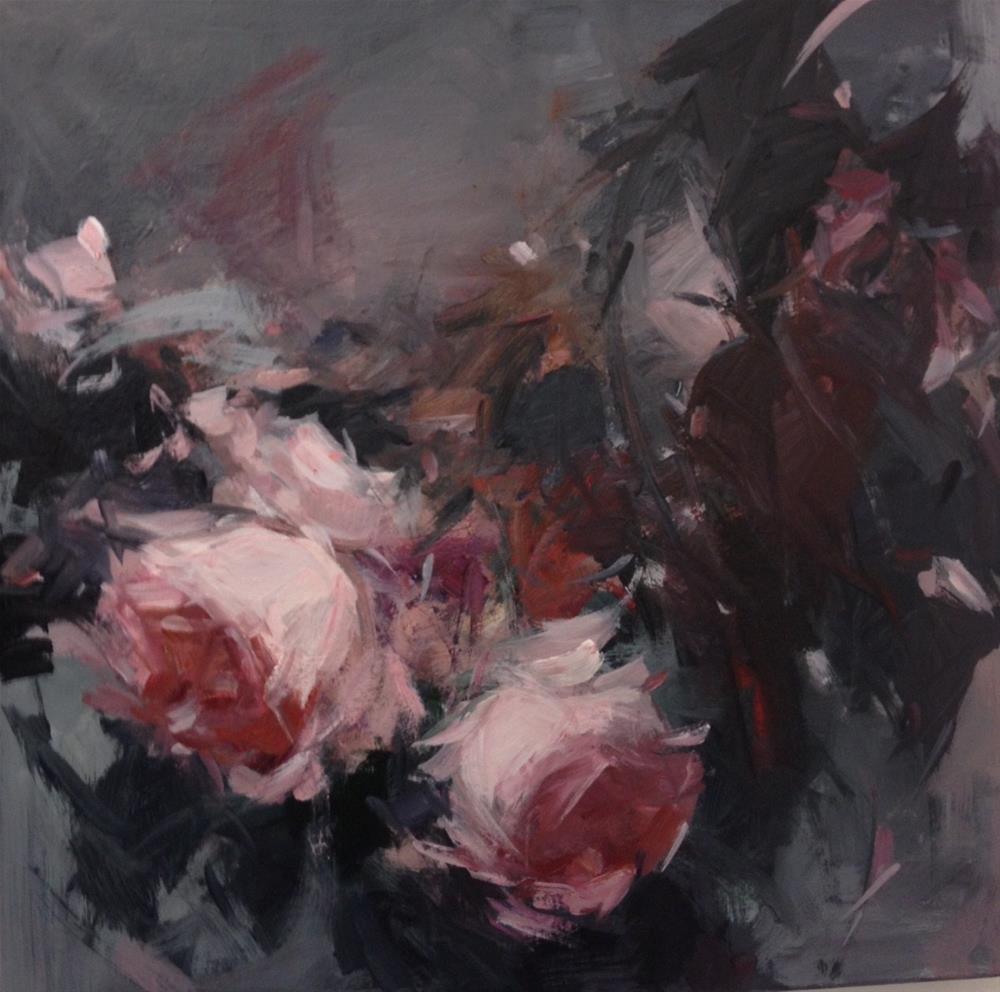 """""""Roses and rainy days"""" original fine art by Parastoo Ganjei"""