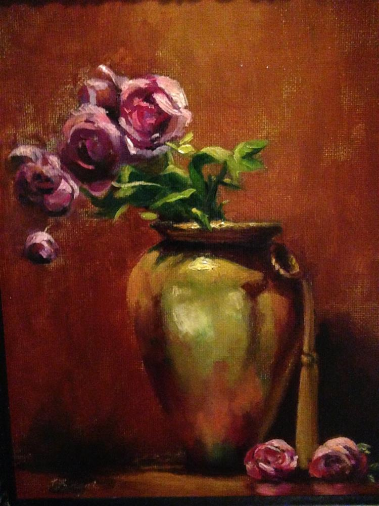 """Gold Vase"" original fine art by Frank and Liangni Nelson"