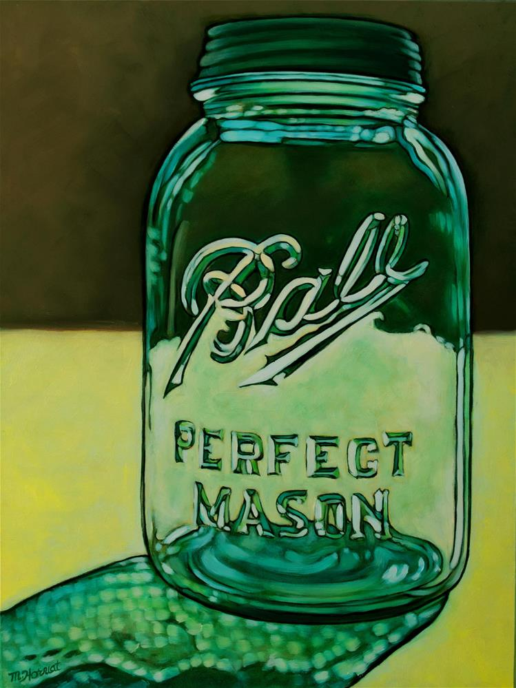 """Ball Mason Jar"" original fine art by Margaret Horvat"