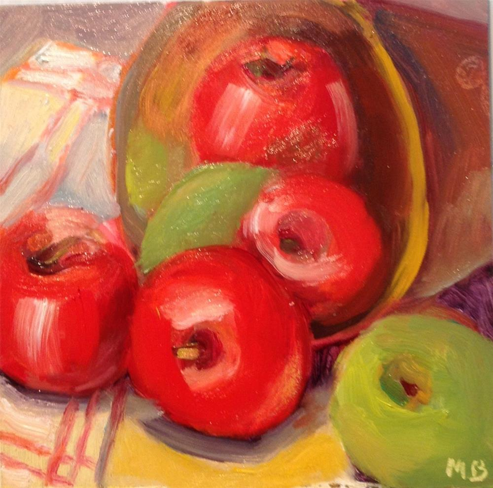 """Apple Escape"" original fine art by Marcia Bergtholdt"